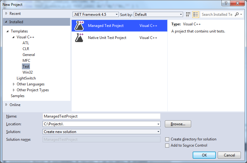 Replacing MSTest with Phil Nash's Catch framework for VS2012
